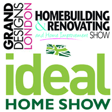 Meet us at the Ideal Home Show, Grand Designs London, The Home Building Show.