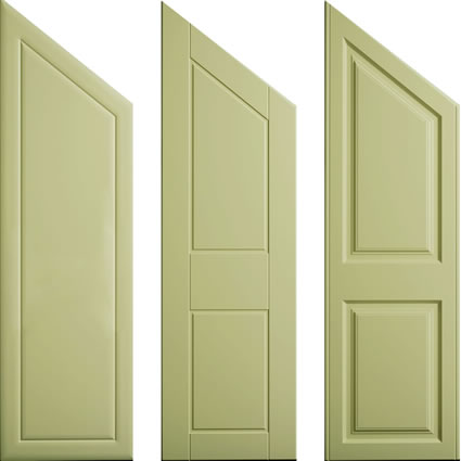 Angled Hinged Doors